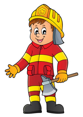 Firefighter man image 1 - eps10 vector illustration. Illustration