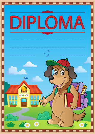 Diploma template image 8 - eps10 vector illustration.