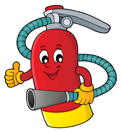 Fire extinguisher topic image 1 - eps10 vector illustration. Vectores
