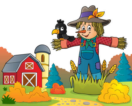 Scarecrow theme image 6 - eps10 vector illustration. Illustration