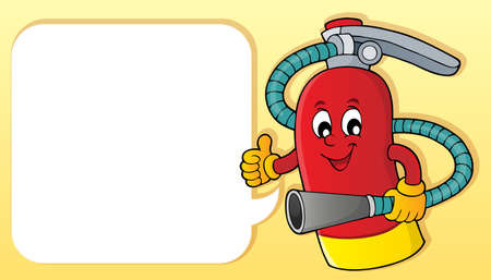 Fire extinguisher topic image 2 - eps10 vector illustration.