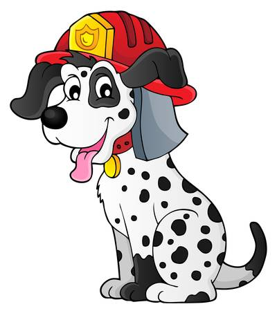Firefighter dog theme 1 - eps10 vector illustration.