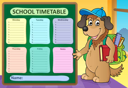 Weekly school timetable design 8 - eps10 vector illustration. Illustration