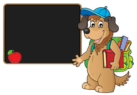 School dog theme image 4 - eps10 vector illustration.