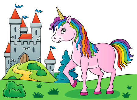 Happy unicorn topic image 5 - eps10 vector illustration. Illustration