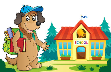 School dog theme image 5 - eps10 vector illustration.