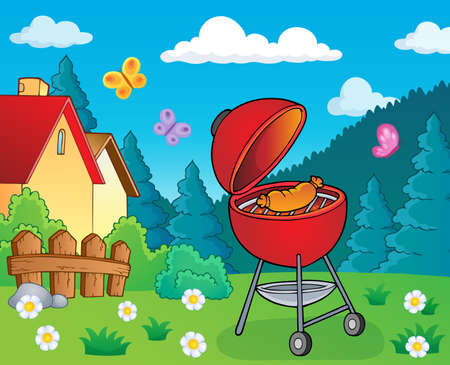 Barbeque topic image 2 - eps10 vector illustration.