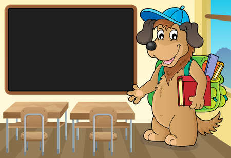School dog theme image 3 - eps10 vector illustration.