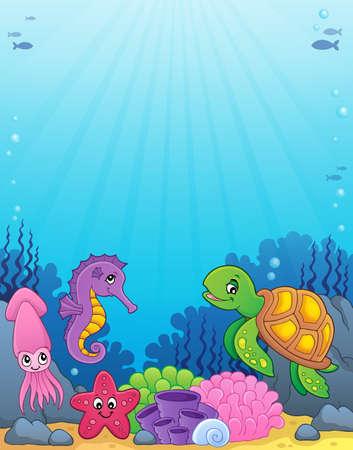 Obraz motywu życia morskiego