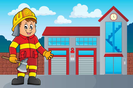 Firefighter man image