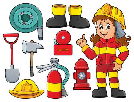 Firefighter theme set
