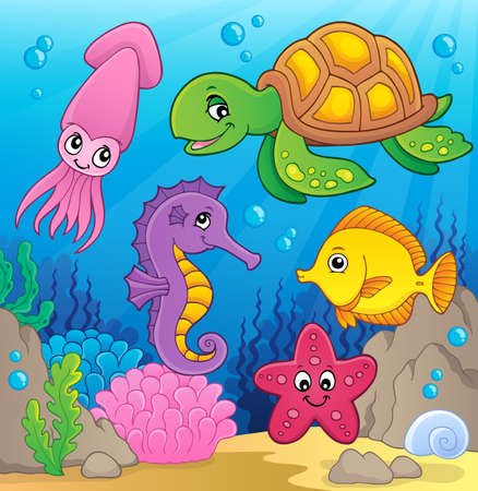 Sea life theme image
