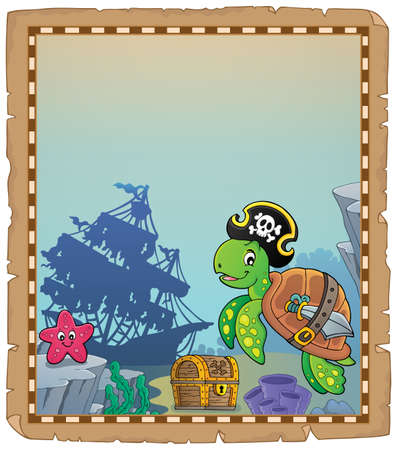 Pirate turtle theme parchment