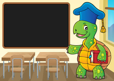 Turtle teacher theme image