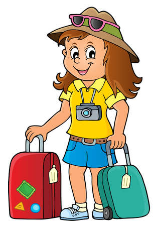 Tourist woman theme image