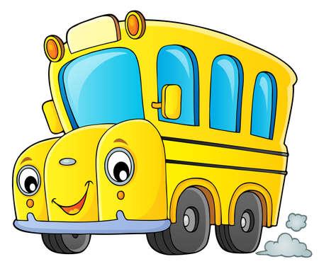 School bus thematics image 1 - eps10 vector illustration.