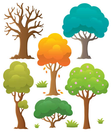 Tree topic collection 2 - eps10 vector illustration. Illustration