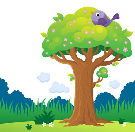 Tree topic image 4 - eps10 vector illustration.