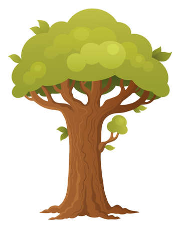 Tree topic image 1 - eps10 vector illustration.