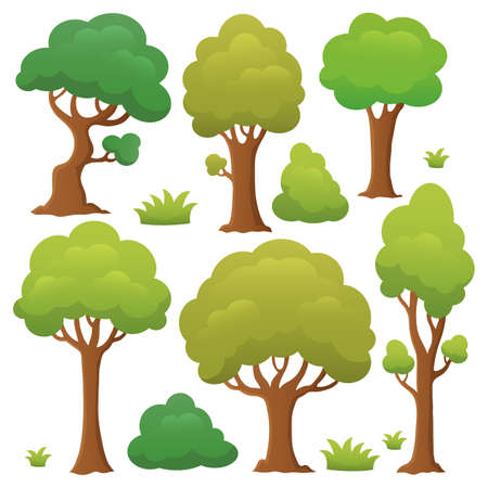 Tree topic collection 1 - eps10 vector illustration.
