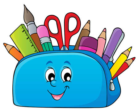 Pencil case theme image 2 - eps10 vector illustration.