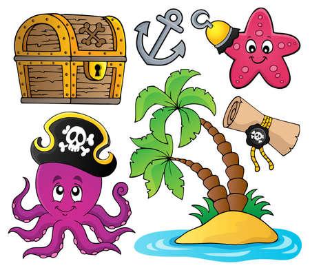 Piraten-Themensammlung 2 - eps10-Vektorillustration. Vektorgrafik