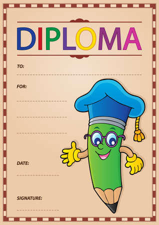 Diploma template image 9 - eps10 vector illustration.