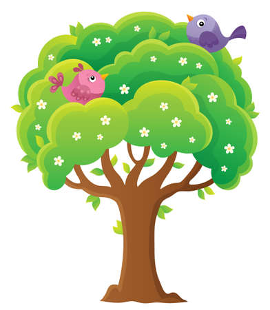 Springtime tree topic image 4 - eps10 vector illustration. Illustration