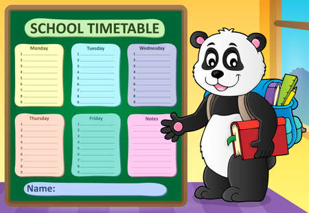 Weekly school timetable template 6 - eps10 vector illustration.