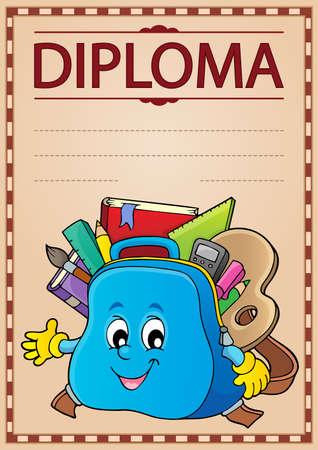 Diploma design image 3 - eps10 vector illustration.