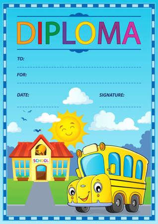 Diploma design image 1 - eps10 vector illustration.