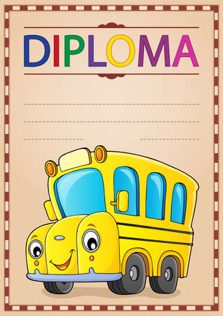 Diploma design image 2 - eps10 vector illustration.