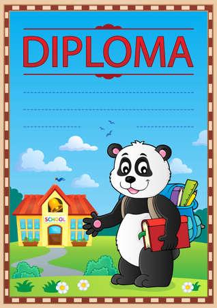 Diploma design image 4 - eps10 vector illustration. Illustration