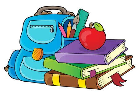 School equipment theme image 1 - eps10 vector illustration. Illustration