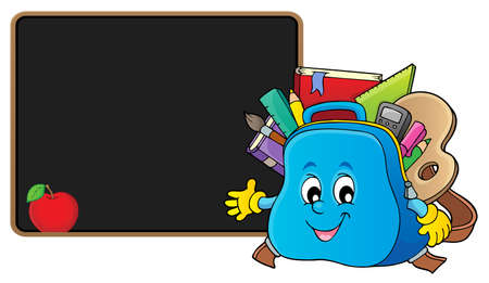 Happy schoolbag topic image 2 - eps10 vector illustration.