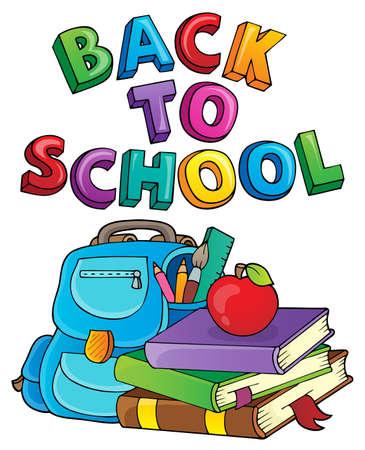 Back to school design 3 - eps10 vector illustration. Vector Illustration
