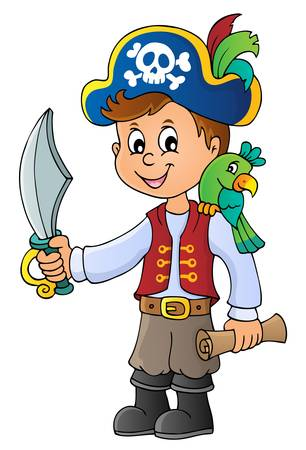 Pirate boy topic image 1 - eps10 vector illustration.