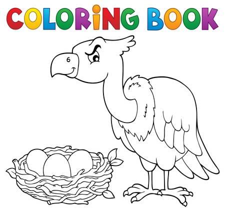 Coloring book bird topic 2 - eps10 vector illustration.