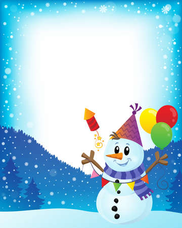 Party snowman theme image 2 - eps10 vector illustration.