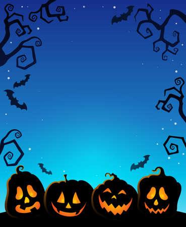 Pumpkin silhouettes thematics image 1 - eps10 vector illustration.