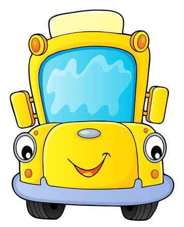 School bus thematics image 4 - eps10 vector illustration. Foto de archivo - 111830661