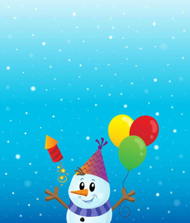 Party snowman theme image 3 - eps10 vector illustration.