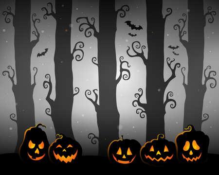 Halloween forest theme image 3 - eps10 vector illustration.