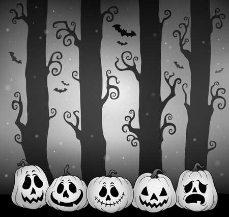 Halloween forest theme image 5 - eps10 vector illustration.