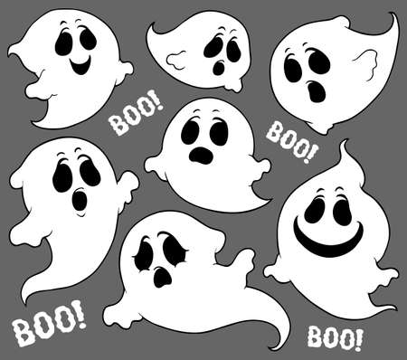 Ghosts thematic set 2 - eps10 vector illustration.