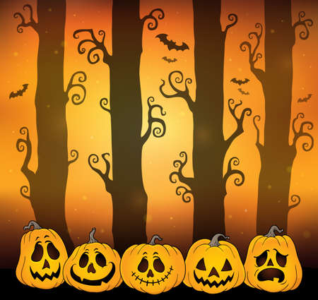 Halloween forest theme image 6 - eps10 vector illustration.