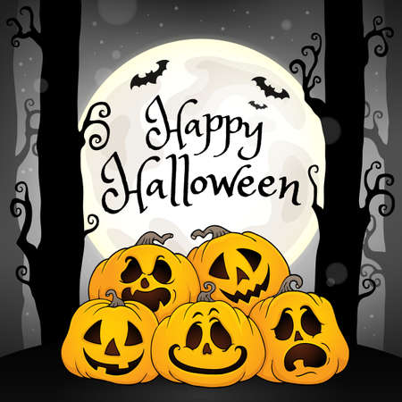 Happy Halloween composition image 5 - eps10 vector illustration. Illustration