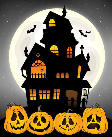 Haunted house silhouette theme image 8 - eps10 vector illustration.