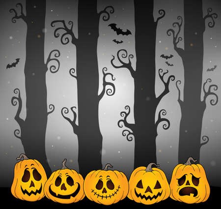Halloween forest theme image 4 - eps10 vector illustration.