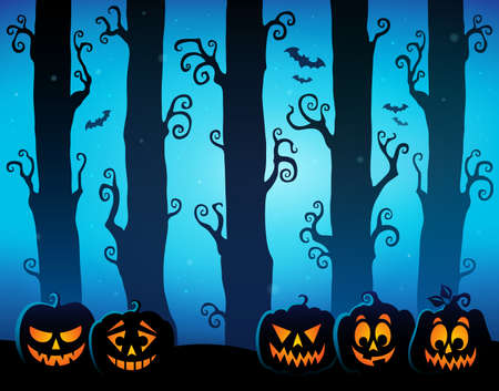 Halloween forest theme image 8 - eps10 vector illustration.